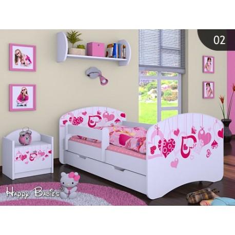 cama infantil happy coleccin para nias con cajn y colchn