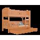 Cama litera de madera maciza Jacob 2 160x80 cm