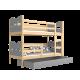 Cama litera de madera maciza 200x90 cm