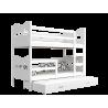 Cama litera con cama nido con cajón y colchones 200x90 cm