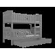 Cama litera de madera maciza Jacob 2 190x80 cm
