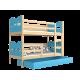 Cama litera de madera maciza 160x80 cm