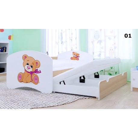 Cama nido infantil Happy Colección con 2 colchones 180x90 cm