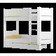 Cama litera de madera maciza Walter 200x90 cm