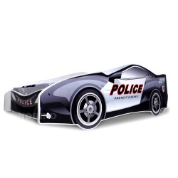 Cama coche de Policía con colchón 180x80