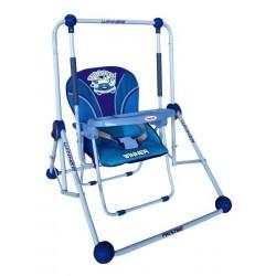 Columpio y silla 2 en 1 azul