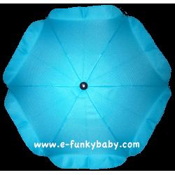 Parasol sombrilla para carrito azul