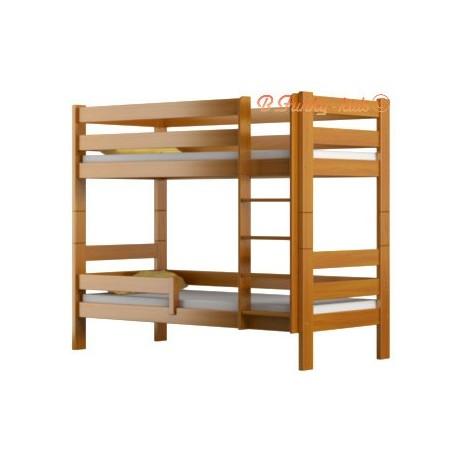 Cama litera de madera maciza Casper 160x80 cm