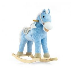 Caballo balancín Pony azul