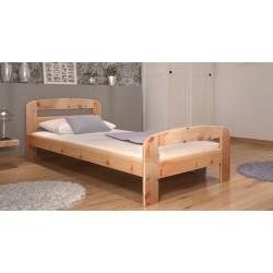 Cama de madera de pino macizo Diego 200x90 cm