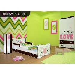Cama infantil Sueños Nuez Colección con cajón y colchón