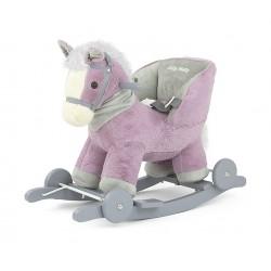 Caballo balancín Polly violeta