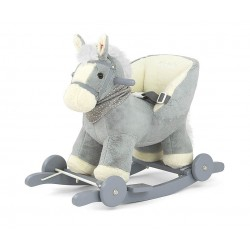 Caballo balancín Polly gris