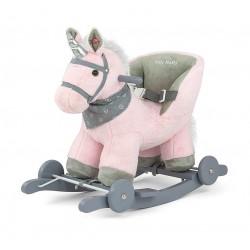 Caballo balancín Polly Unicornio rosa